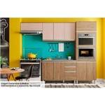 Cozinha Completa Henn Integra C/5 Peças (Torre Quente+2 Aéreos+Armário) CZ07-Cor Rústico C/Fendi