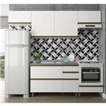 Cozinha Completa Modulada Vitória Moderna 5 Peças em Mdf Off White Dalla Costa