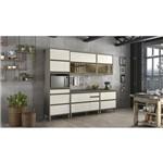 Cozinha Modulada 01 Forno Lyra 07 Peças Henn - Duna/off White