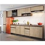 Cozinha Modulada Decibal New Concept 07 100%mdf com 11 Portas e 5 Gavetas - Freijó / Acácia
