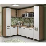 Cozinha Modulada Kappesberg Sense 05 com 12 Portas 2 Nichos - Nature/branco