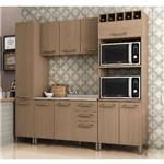Cozinha Modulada Kappesberg Sense 08 10 Portas 3 Gavetas - Nature