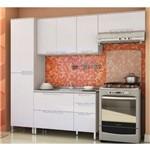 Cozinha Modulada Kappesberg Solaris 10 com 7 Portas 4 Gavetas - Carvalle/branco