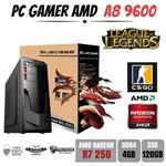 Cpu Gamer Amd A8 9600 4gb Ddr4 R7 250 Apu Ssd120gb