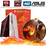 Cpu Pc Computador Gamer AMD Fx6300 Quad Core 4gb Ati Radeon R5 230 Bg-009 Branco