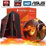 Cpu Pc Computador Gamer Fx4300 Quad Core 4gb Ati Radeon R5 230 Bg-009 Preto
