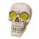 Crânio Caveira Lisa Halloween com LED