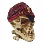 Crânio Cinzeiro Caveira Pirata com Tampa.