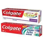 Creme Dental Colgate Tripla Ação + Total 12