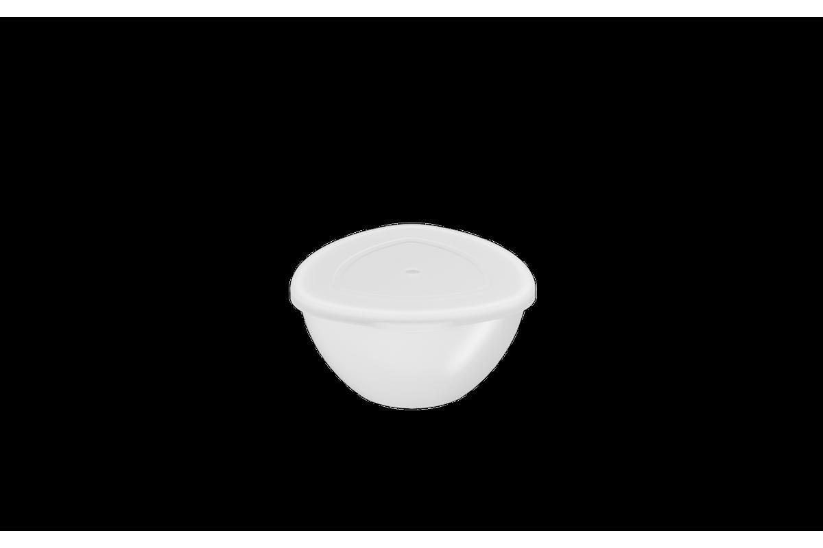 Cremeira C/ Tampa Essential 250ml 12x11,5x6cm Branco Coza