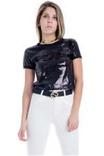 Cropped Black Glam BL3365 - Kam Bess