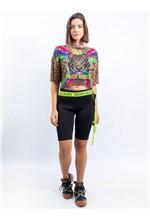 Cropped de Tule com Silk Fancy Dress - P