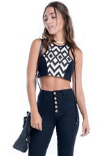 Cropped Regata com Estampa