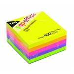 Cubo Bloco de Notas 400 Folhas 5 Cores Neon 75x75mm Tris
