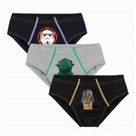 Cueca Infantil Kit 3 Star Wars Lupo