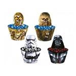 Cupcake Wrapper com Enfeite Star Wars Clássico - 12 Unidades