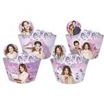 Cupcake Wrapper com Enfeite Violetta com 12 Unidades - Regina Festa