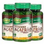 Cúrcuma Açafrão e Betacarotenos - 3 Un de 60 Cápsulas - Unilife