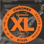 D'addario - Encordoamento Chromes Flat Wound para Guitarra Ecg26