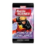 Deck Battle Scene - Booster Unitário - Marvel - Forças Estelares - Capitão Mar-vell - Copag