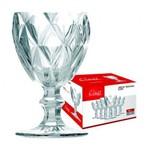 Decoracao Outros Class -Taca Agua Diamante -Clear
