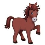 Decoupage Aplique em Papel e Mdf Cavalo Apm8-039 - Litoarte