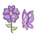 Decoupage Aplique em Papel e Mdf Flor Borboleta Apm4-034 Litoarte