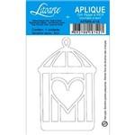 Decoupage Aplique em Papel e Mdf Gaiola Coração Apm8-414 - Litoarte