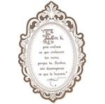 Decoupage Aplique em Papel e Mdf Moldura com Frase Apm20-019 - Litoarte