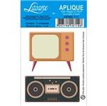 Decoupage Aplique em Papel e Mdf Rádio e Tv Apm4-111 - Litoarte