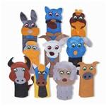 Dedoche Animais Domesticos - Feltro - 10 Persongens Colorido Carlu Brinquedos