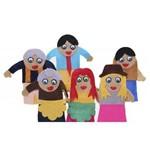 Dedoche Família Branca com 6 Personagens - Carlu