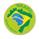 Descanso de Copo Mdf Decoupage Brasil Pátria Amada Dma1-018 - Litoarte