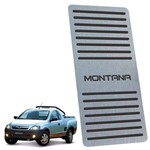 Descanso de Pé Chevrolet Montana 2003 Até 2010 Preto Inox