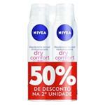 Desodorante Nivea Aerosol Dry Fem L2 P50% 2 Unidades