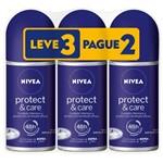 Desodorante Nivea Pretect Care Rollon 50ml Leve 3 Pague 2