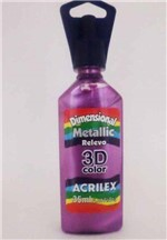 Dimensional Relevo 3d Color Metallic 35ml Acrilex Magenta 549