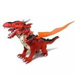 Dinossauro Dragão 5 Cabeças Anda Luz e Som