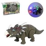 Dinossauro Estiracossauro com Som e Luz a Pilha na Caixa Wellkids