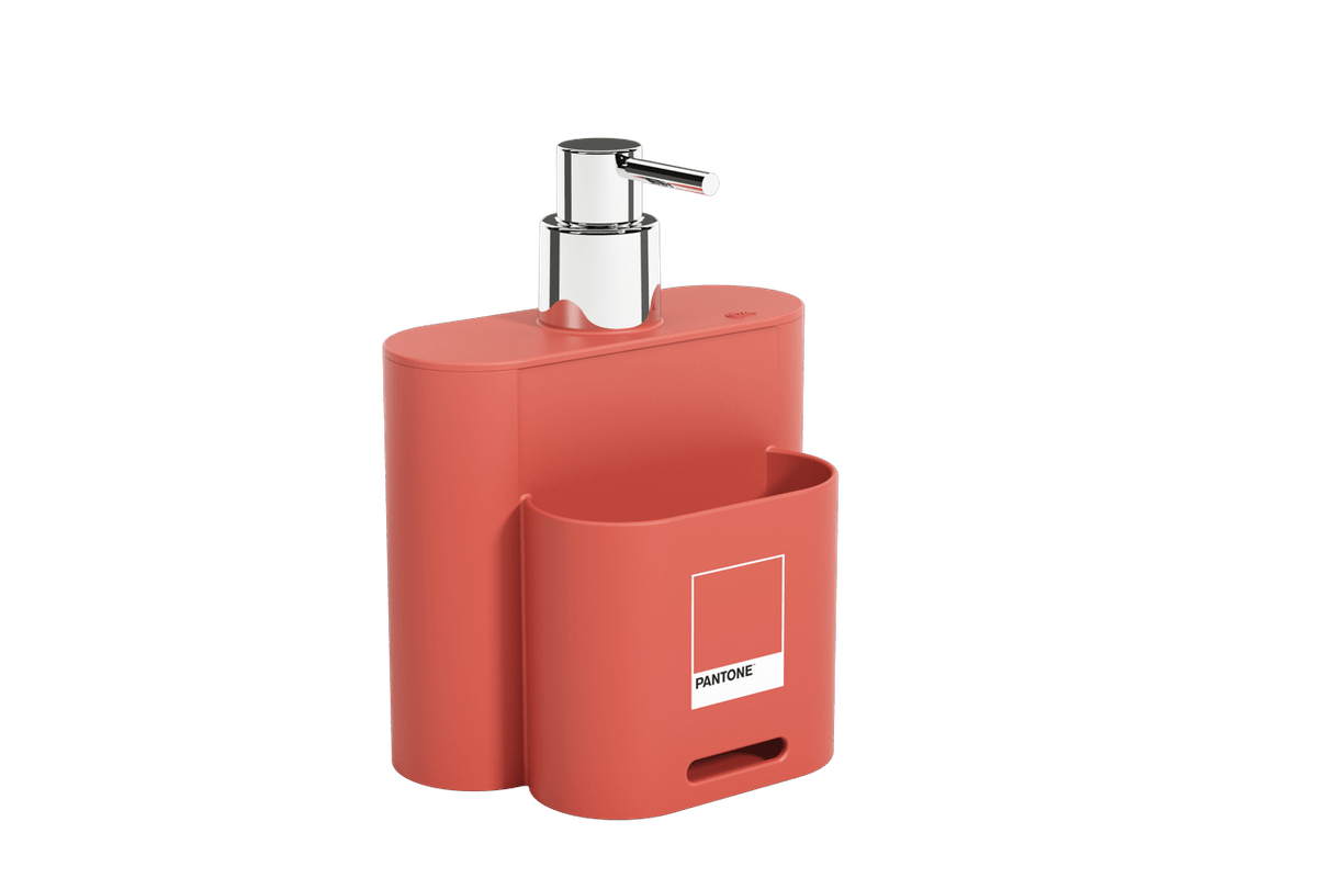 Dispenser 500 Ml Flat 9 X 13 X 16,5 Cm Coral Pantone Coza