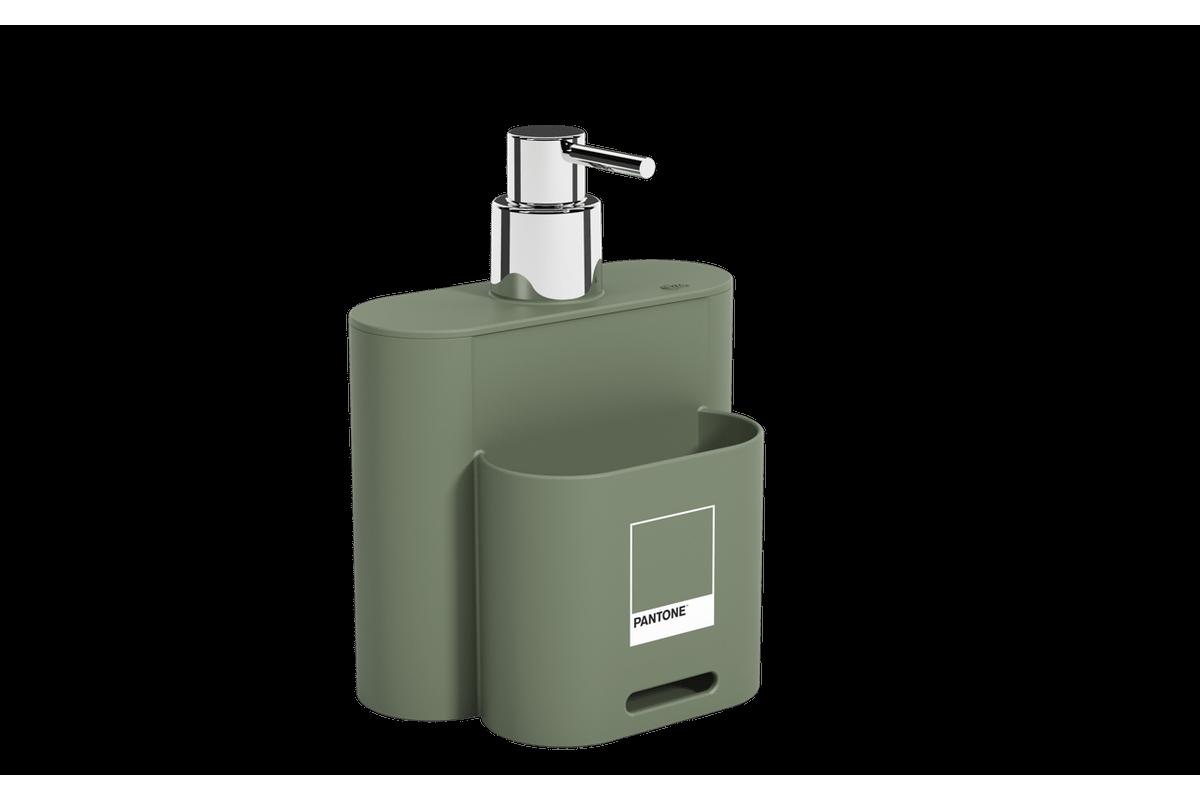 Dispenser 500 Ml Flat 9 X 13 X 16,5 Cm Verde Pantone Coza