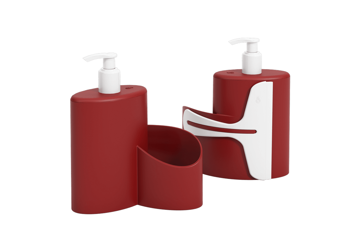 Dispenser Abraço Basic 600 Ml 19,7 X 8,5 X 16,6 Cm Vermelho Bold Coza