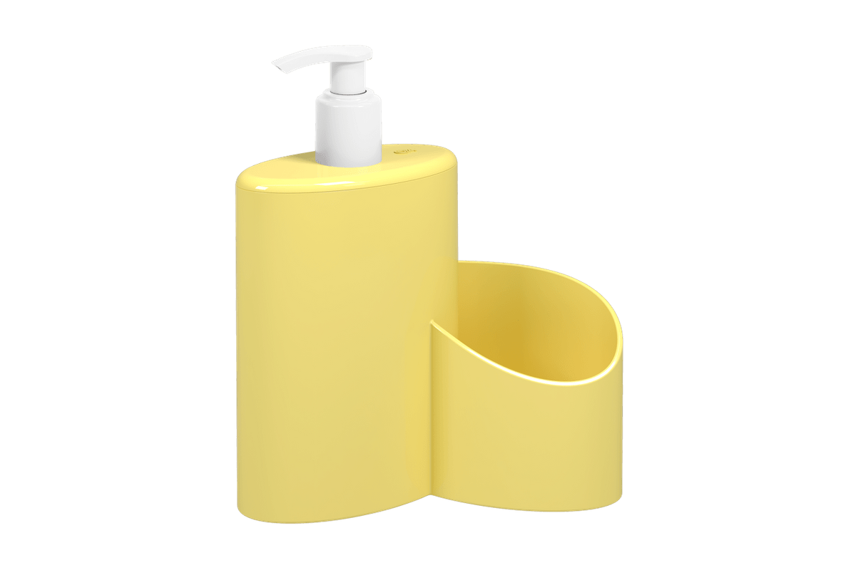 Dispenser Abraço Sem Rodo Basic 600 ML 19,7 X 8,5 X 16,6 Cm Amarelo Coza