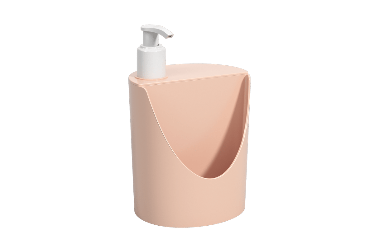 Dispenser Romeu e Julieta Basic 600 Ml 12 X 10,5 X 18 Cm Rosa Blush Coza