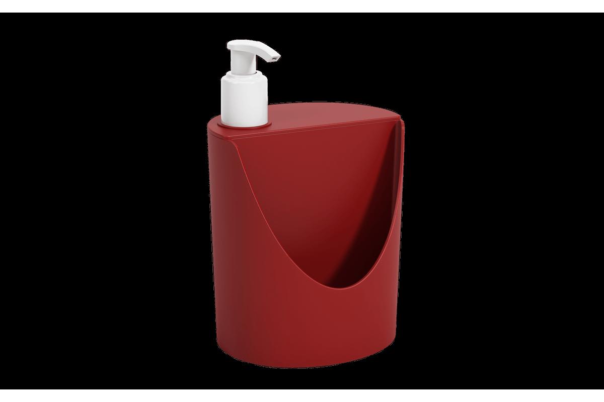 Dispenser Romeu e Julieta Basic 600 Ml 12 X 10,5 X 18 Cm Vermelho Bold Coza
