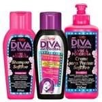 Diva de Cachos Soft Poo Niely - Shampoo + Condicionador + Creme para Pentear Kit