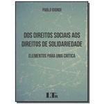 Dos Direitos Sociais Dto Solidariedade 01ed/17