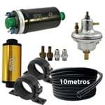 Dosador Hpi V3 + Suportes + Filtro de Combustível + Bomba Elétrica 9bar + 10M Mangueira Nylon Prata(VLRPSH01SL-FTISCB03-SALBCS01-HSIA Confira Especificações
