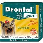 Drontal Plus Cães Até 10kg - 2 Comprimidos - Bayer