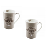 Duas Canecas de Porcelana - Have a Coffee Day